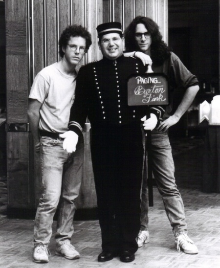 Joel-and-Ethan-Coen-on-the-set-of-Barton-Fink
